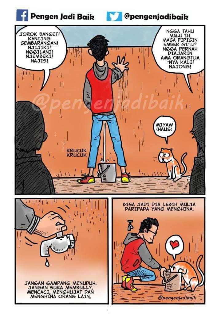 Salah satu frame komik karya Bang SQU